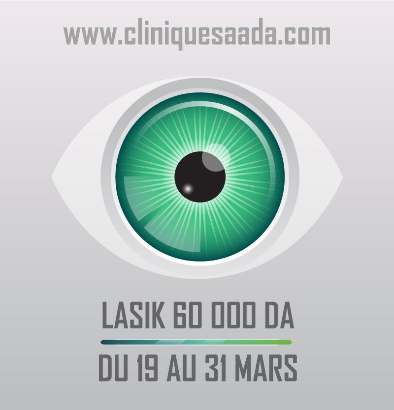 Offre spéciale : Lasik 60 000 Da du 19 au 31 Mars